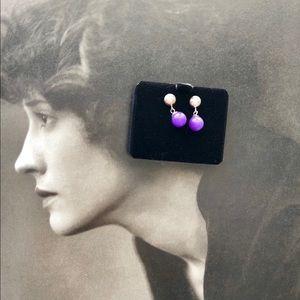 Jewelry - 💯❤️amethyst stud earrings NWT 😘❤️